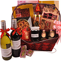 Attractive Standing Ovation Wine and Gourmet Gift Basket<br/>