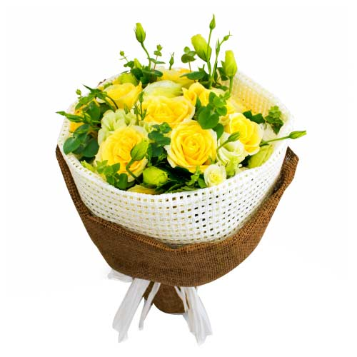 Treasured Bouquet of 24 Stalks of Yellow Roses