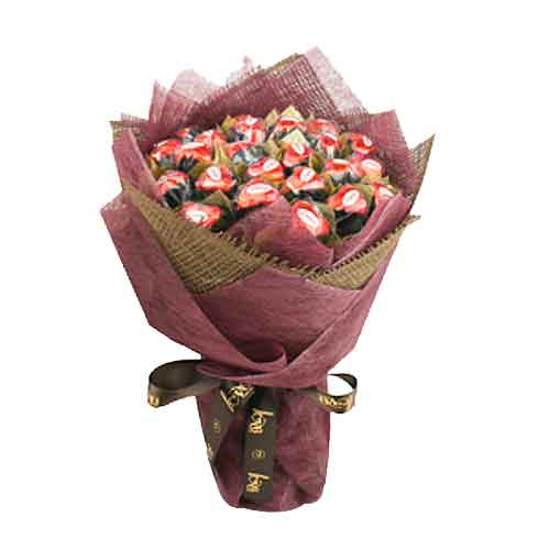 Mouth-Watering Lamour Belgian Chocolate Bouquet <br/>
