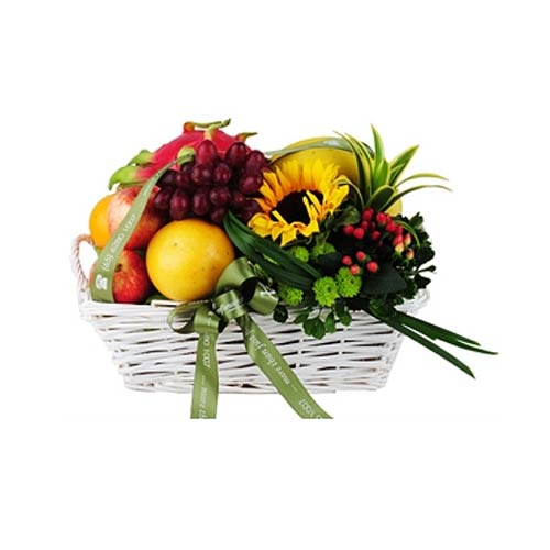 Edible Fruit Cheerful Indulgence Basket<br/><br/><br/>