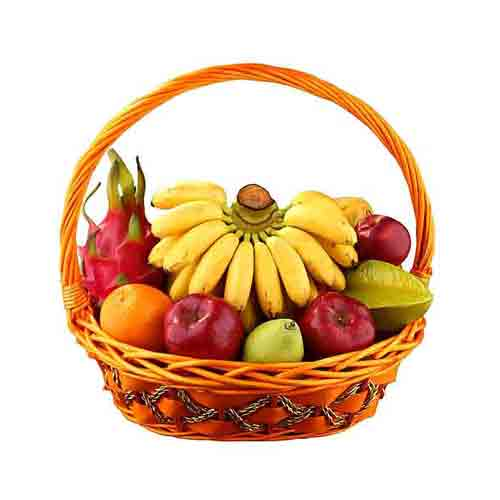 Premium Basket of Freshly Plucked Fresh Fruit <br/>