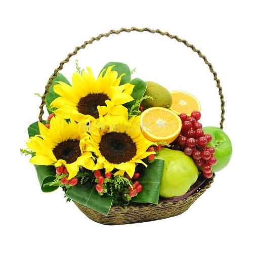 Pleasant Inspiring Strength Fruit Basket