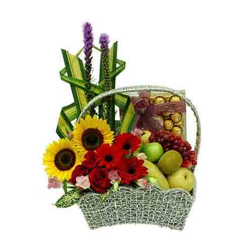 Wholesome Pure Elegance Gift Basket of Fruits