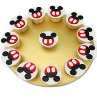Magical Twelve Pieces Mickey Mouse Style Cupcakes