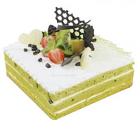 Beautiful Green Tea Red Bean Cake