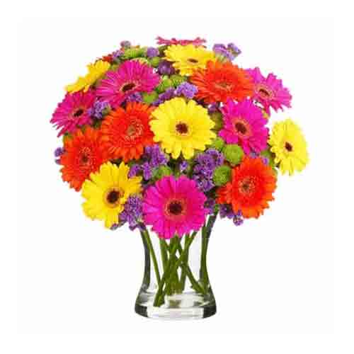 Multicolored Glad Tidings Bouquet