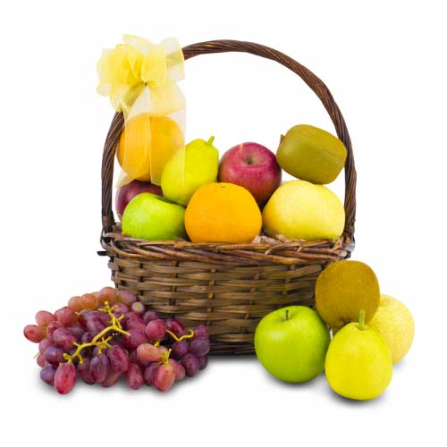 Aromatic Basket Full of Various Fruits