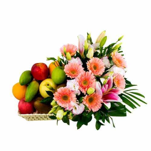 Cool Combination Pack of Mixed Fruits and Flowers
