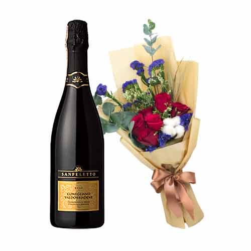Fragrant All Time Favorite Gift of Sanfeletto Prosecco Sparkling Wine