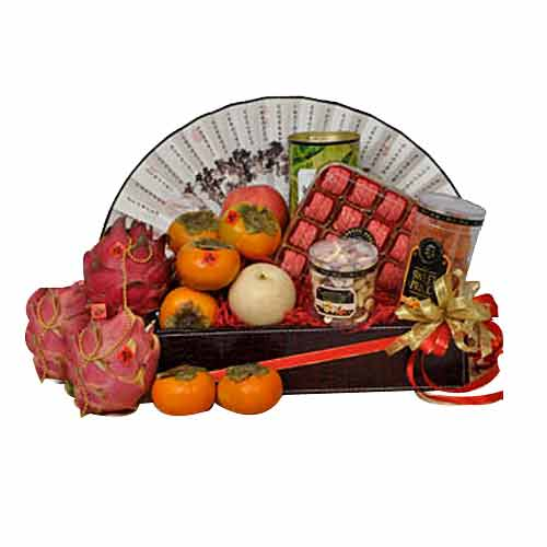Juicy Shimmering Seasons Fruit n Gourmet Hamper