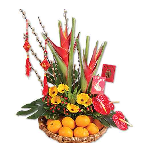 Creative Bunch of Flowers with Yummy Fruits