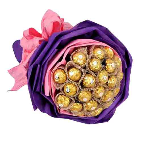 Ecstatic 24 Ferraro Rocher Chocolates Bouquet<br>