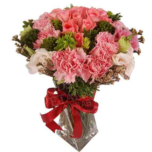 Fresh Start Bouquet of Roses N Carnations