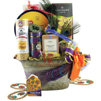 Gorgeous Diwali Gift Basket with Your Choice of Dine Collection