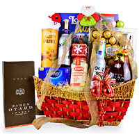 Entertaining Savory Treat Gourmet Gift Basket