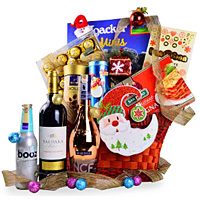 Yummy Gourmet Snack N Champagne Gift Basket