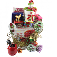 Golden Christmas Gift Baskets