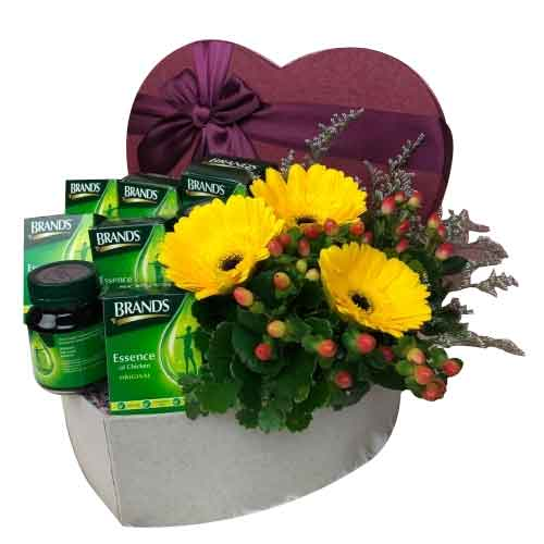 Glorious Treat of Seasonal Flowers N Health Care Basket<br>