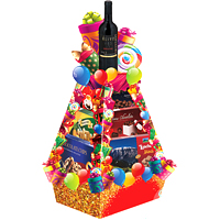 Elegant Gourmet Tower for Christmas
