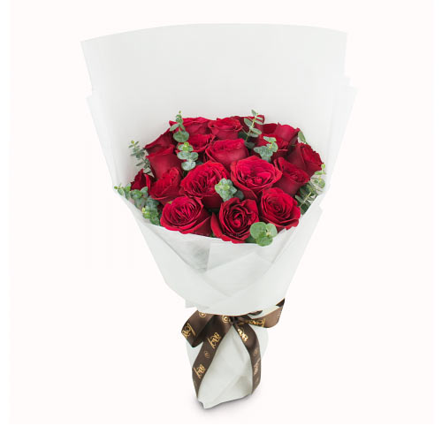 Gorgeous Red Color Roses Bunch