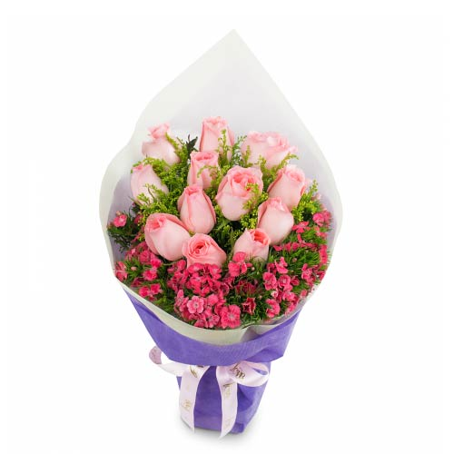 Amazing Pink Roses Bunch