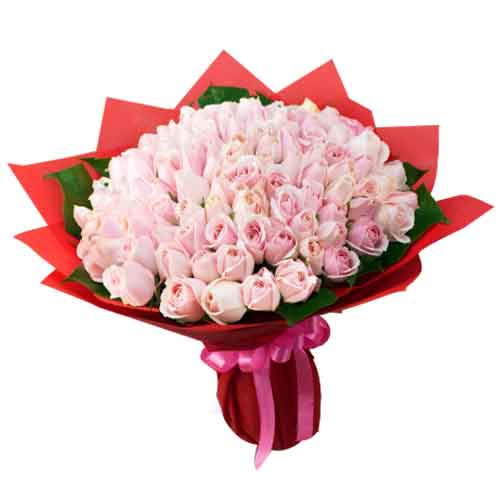 Charming Pink color Roses Bunch