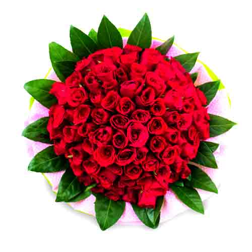 Breathtaking Red Color Roses Hand Bunch