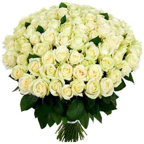 Charming White Roses Bunch