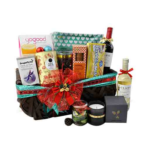 Christmas Cheers Wine N Gourmet Hamper