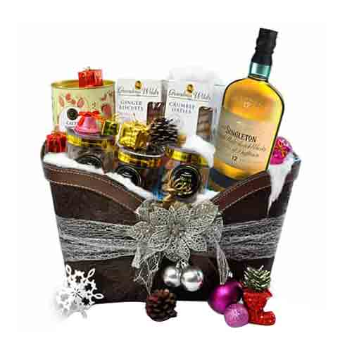 Simply Divine Gift Hamper of Wine N Assortments