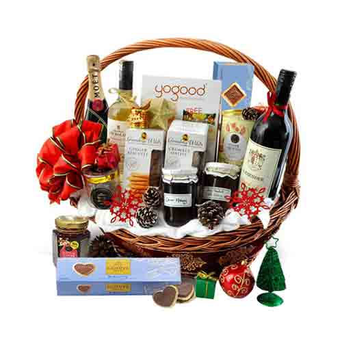 Delightful Gourmet Assortments Hamper with Whisky Bottle