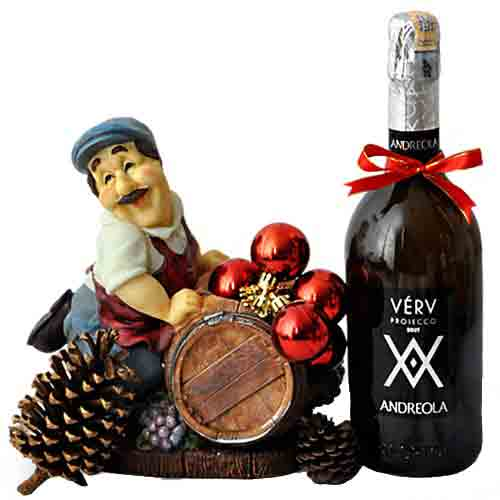 Angelic Selection of Spumante Andreola Verv Prosecco Brut DOX Wine Bottle
