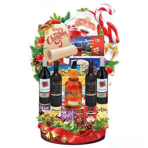 Christmas Surprise Gourmet N Wine Hamper
