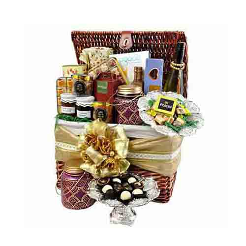 Enigmatic Holiday Treat Gift Basket